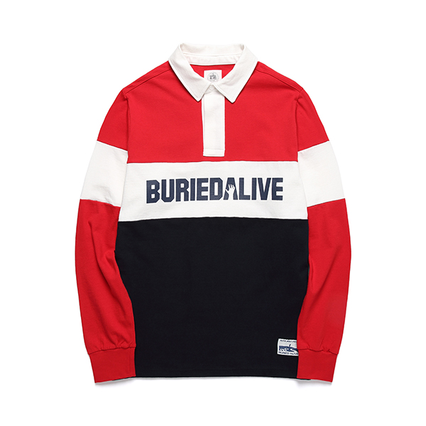 [단독30%할인] [Buried Alive] Ba Block Pk Tee_Red
