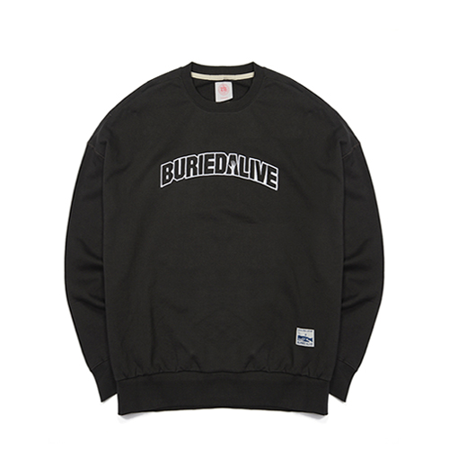 [단독30%할인] [Buried Alive] Ba Basic Crewneck_Black