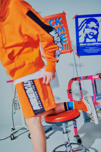 [3/1예약발송] BA COLOR LOGO SHORT PANTS ORANGE