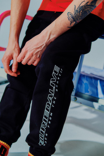 [3/1예약발송] BA LOGO SWEAT PANTS BLACK