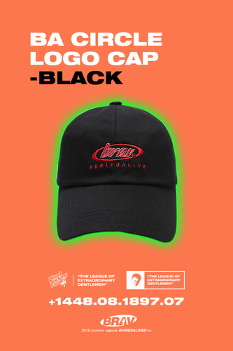 BA CIRCLE LOGO CAP BLACK