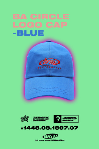BA CIRCLE LOGO CAP BLUE