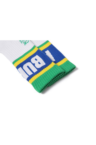 BA ALIVE SOCKS WHITE/BLUE