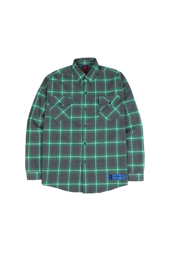 BA SPRINT CHECK SHIRTS GREEN