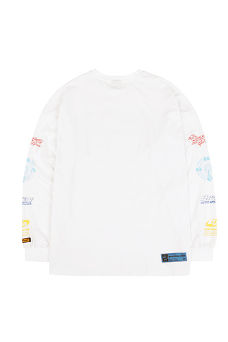 BA ARM LOGO LONG SLEEVE WHITE