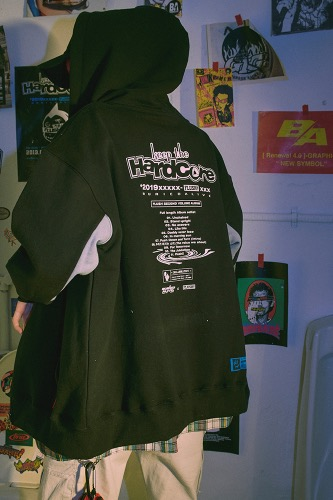 BA X FLUSH HOOD ZIP UP BLACK