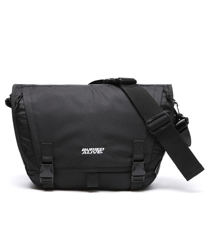 BA X UNION GRID MESSENGER BAG - BLACK