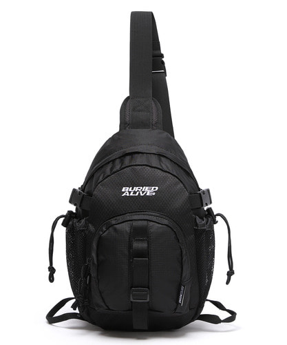 BA X UNION GRID SLING ONE BAG - BLACK