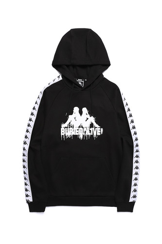 BA X KAPPA HOODY FULL OVER BLACK