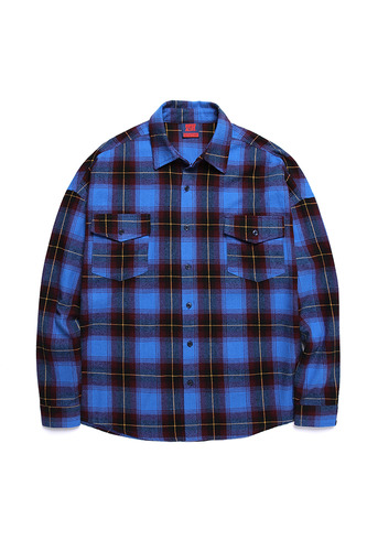 BA LOGO OVER SHIRTS BLUE CHECK