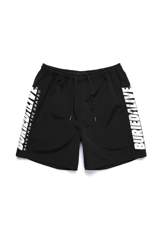 [3/1예약발송] BA COLOR LOGO SHORT PANTS BLACK