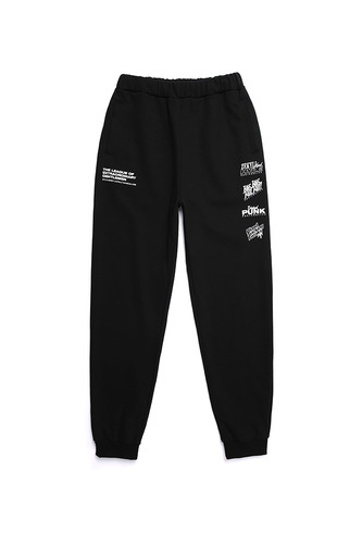 BA L.L LOGO SWEAT PANTS BK/WH