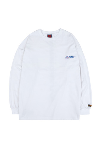 BA NEW LOGO LONG SLEEVE WHITE