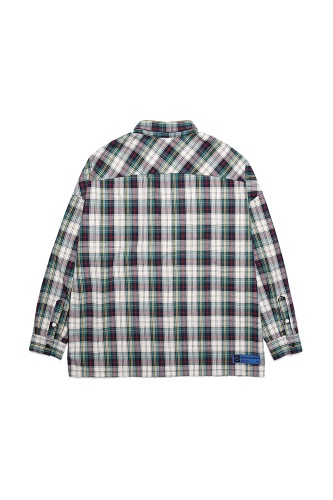 BA FULL OVER SIZE SHIRTS GREEN CHECK