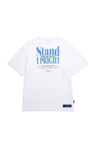 BA X FLUSH STAND-UPRIGHT TSHIRTS WHITE