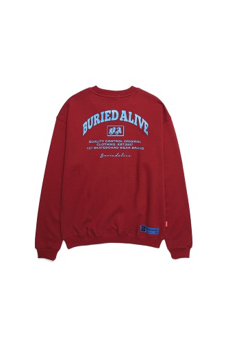 BA A-TYPE SWEATSHIRTS BURGUNDY