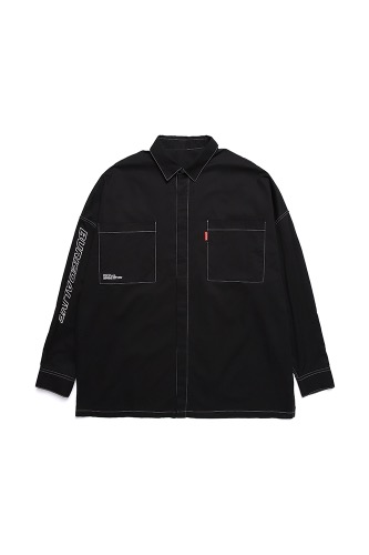 BA FULL OVER SIZE SHIRTS BLACK