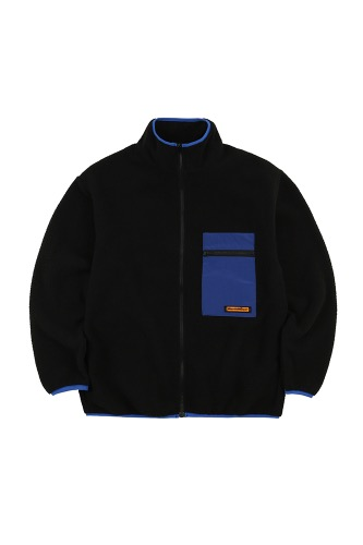 BA CIRCLE LOGO FLEECE JACKET BLACK