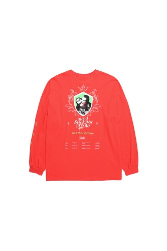 BA BLOOD LONG SLEEVE ORANGE