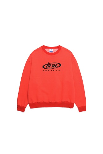 BA CIRCLE LOGO SWEATSHIRTS ORANGE