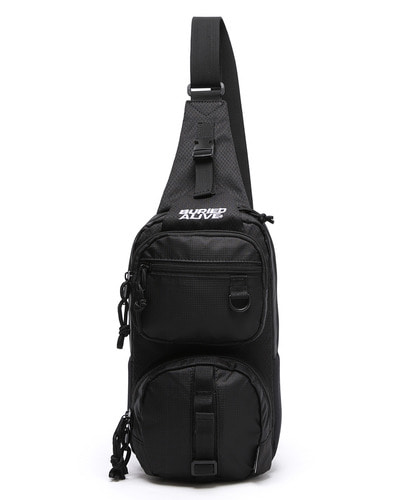 BA X UNION GRID SLING TWO BAG - BLACK